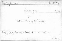 Sextett G dur für 3 Violinen,Viola und 2 Violoncel