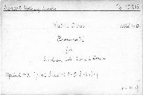 Sextett D dur für 2 Violinen, Viola, Bass u. 2 Hörner