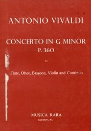 Concerto in g minor P. 360 for flute, oboe, bassoon, violin and continuo