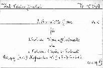 3. Quintetto G dur für 2 Violinen, Viola und 2 Violoncelle
