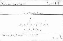 Trio-Sonate A dur für Klavier, 2 Violinen (u. Cello ad lib.)
