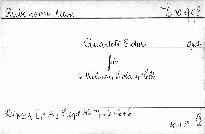 Quartett F dur für 2 Violinen, Viola u. Cello, op. 2