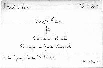 Sonate F dur für 2 Violinen und Violoncello