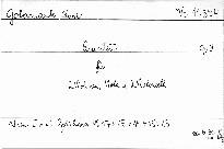 Quintett für 2 Violinen, 1 Viola & 2 Violoncelli, Op. 9