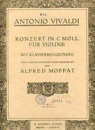 Konzert in C moll für Violine mit Klavierbegleitung