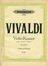 Konzert a moll für Violine solo mit Streichorchester, Opus 3 Nr. 6