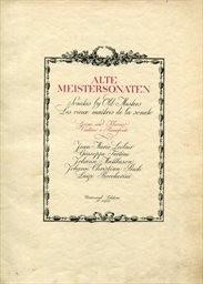 Alte Meistersonaten