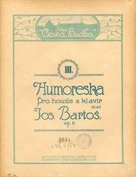 Humoreska pro housle a klavír, op. 9                         (III.)