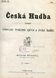 Česká hudba                         (Ročník VIII.)