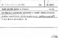 Ruské národní piesne a romance. Op. 34.