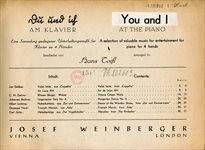 Du und ich am Klavier