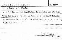 Liedvariationen für Klavier (auch für Cembalo oder Orgel)