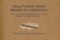 Menuette für Altblockflöte oder ein anderes Melodieinstrument und Klavier (Cembalo)