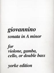 Sonata in A minor for violone, gamba, cello, or double bass
