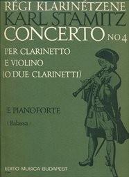 Concerto No 4 per clarinetto e violino (o due clarinetti) soli e orchestra