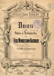 Duos pour piano et violoncelle