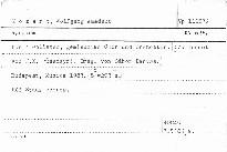 Requiem für 4 Solisten, gemischten Chor und Orchester, KV 626
