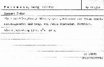 Konzert F dur für Blockflöte, Oboe, 2 Hörner,