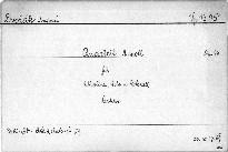 Quartett a moll für 2 Violinen, Viola und Violoncell, op. 16