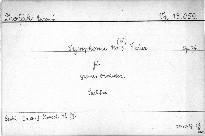 Symphonie (No. 3, F dur) für grosses Orchester, op. 76