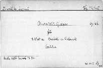 Quartett G dur für 2 Violinen, Bratsche und Violoncell, op. 106