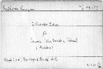 2. Quartett D dur für Pianoforte, Violine, Bratsche und Violoncell