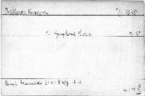 1. Symfonie C dur, Op. 21