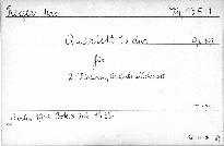 Quartett Es dur für Klavier, Violine, Viola u. Violoncell, op. 30