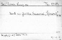 Musik zu Goethes Trauerspiel Egmont