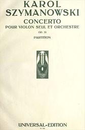 Concerto pour violon seul et orch., op. 35