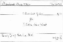 1. Quartett G dur für 2 Violinen, Viola und Violon