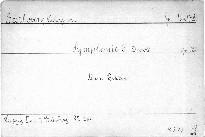 Symphonie No. 9 D moll,  Op. 125