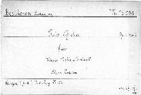 Trio G dur für Klavier, Violine und Violoncell, Op. 1, No. 2