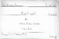 Trio c moll für Klavier, Violine und Violoncell, Op. 1, No. 3