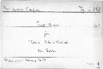 Trio Es dur für Violine, Viola und Violoncell, Op. 3