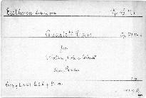 Quartett C dur für 2 Violinen, Viola und Violoncell, Op. 59, No. 3