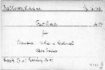 Trio B dur für Pianoforte, Violine und Violoncell, Op. 97