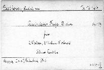 Quintett-Fuge D dur für 2 Violinen, Viola und Violoncell, Op. 137