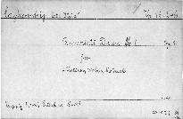 Quartet D dur No. 1 für 2 Violinen, Viola und Violoncell, op. 11