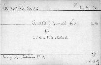 Quartet Es moll No. 3 für 2 Violinen, Viola und Violoncell, Op. 30