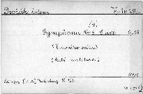 Symphonie Nr. 5 (9) e moll. Op. 95