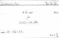 4. Quartett für 2 Violinen, Viola und Cello