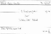 2. Quatuor G dur pour 2 violons, alto et violoncelle