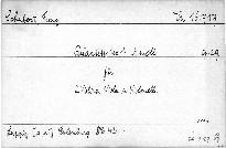 Quartett No. 1 a moll für 2 Violinen, Viola und Violoncello, op. 29