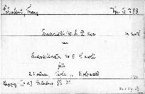 Quartett No. 8 D dur und Quartetsatz No. 9 C moll für 2 Violinen, Viola und Violoncell