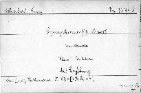 Symphonie VIII. H moll