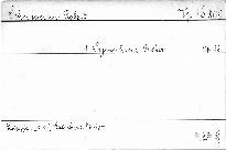 1. Symphonie B dur, op. 38