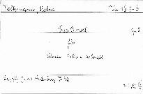 Trio b moll für Klavier, Violine und Violoncell,