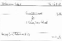 Quartett e moll für 2 Violinen, Viola und