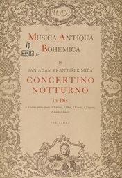 Concertino notturno in Dis a Violino principale,